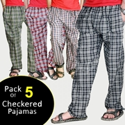 Pack of 5 Checkered Pajamas