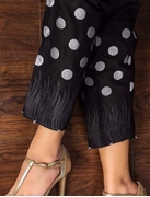 Black  Candy polka dot embroidery cigrate pant