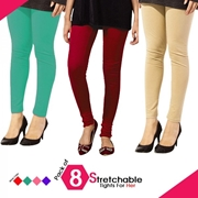 Pack of 8 Stretchable Tights For Her