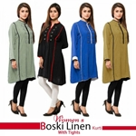 Buy any One Womens Boski Linen Kurti With Tights
