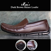 Mens Dark Brown Shiner Loafer