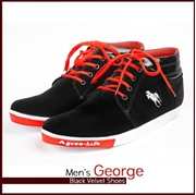 Mens George Black Velvet Shoes