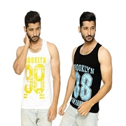 Pack of Two Men Printed Sando