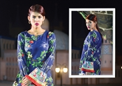 Buy Premium Lawn Collection 2018 ayana v1 Navy blue  online