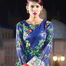 Premium Lawn Collection 2018 ayana v1 Navy blue