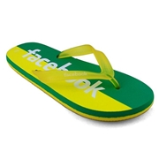 Men's Flip Flops Slippers (Face-book) -Yellow & Green