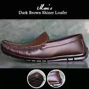 Mens Casual Dark Brown Loafer