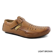 Men's Camel Brown Side Stap Sandle