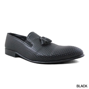 Stylins Matte Black Loafer For Men