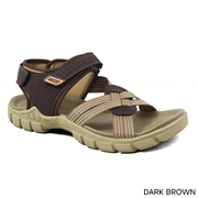 Stylish matte Brown StapeSandle for Men,s