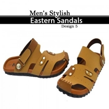 Button Style Camel Brown Sandle