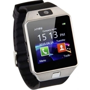 Silver Bluetooth GSM Smart Watch DZ09