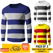 Pack Of 3 ( Multi Color Tone T-Shirts