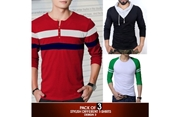 Pack Of 3 Stylish Different T-Shirts Design 3