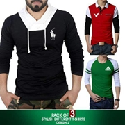 Pack of 3 Stylish Different T Shirts