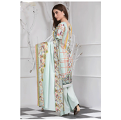Buy Aqua Green flower Printe Lawn By Misha Design  online