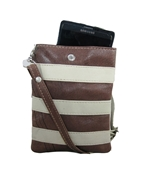 House of Leather - Brown Leather Mobile Pouch with Long Strap