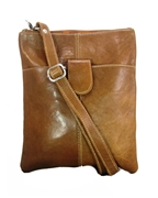 House of Leather -Tan Leather Cross body bag