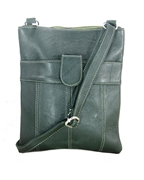 House of Leather - Green Leather Cross body bag