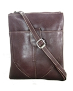House of Leather - Burgundy Leather Cross body bag