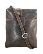 House of Leather Antique Brown Leather Cross body bag