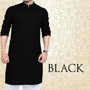 Special Black Kurta for Mens SKU-SRK-VT-001