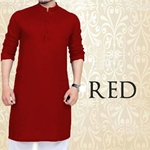 Special Eid Red Kurta for Mens SKU-SRK-VT-004