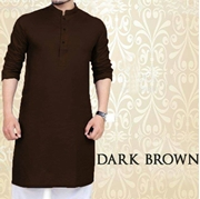 Special Eid Dark Brown Kurta for Mens SKU-SRK-VT-005