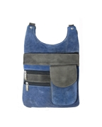 House of Leather - Blue & Grey Leather Cross body bag
