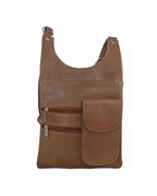 House of Leather - Brown Leather Cross body bag