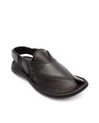House of Leather - Black Leather Peshawri Sandal