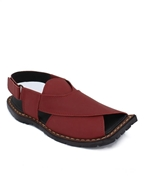 House of Leather - Maroon Leather Peshawri Sandal