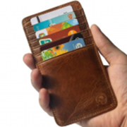 Leather Card & Currency Holder