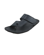 House of Leather - Black Leather Slipper