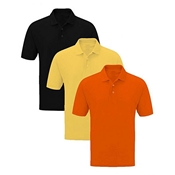 Buy Mardaz Pack of 3 Solid Multicolor Polo Shirtsfor Men  online