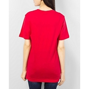 Buy Mardaz Red - Cotton - T - Shirtfor Women  online