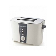 Black + Decker ET122 - Toaster 2 Slice Long Slot With Cool Touch White & Grey