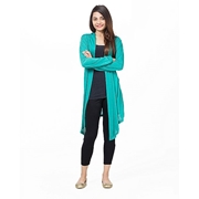 Mardaz Sea Green Viscose Long Shrug