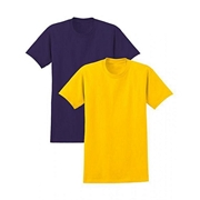 Mardaz Bundle of 2 - Yellow & Purple Cotton T-shirts for Women