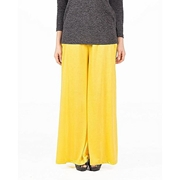 Mardaz Yellow Viscose Palazzo Pant For Women - MDZ-107-YLW