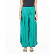 Mardaz Sea Green Viscose Harem Pant For Women - M D Z -116 - S G N