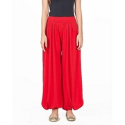 Mardaz Red Viscose Harem Pant For Women - M D Z -112 - R E D
