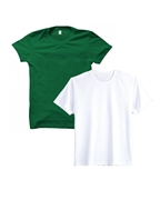 Pack of Two Independence Day White & Green T-Shirt for Men