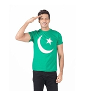 Independence Day Green Printed T-Shirt for Men