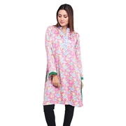 Wokstore Garments Cotton Printed Kurti For Women Pink WG-019