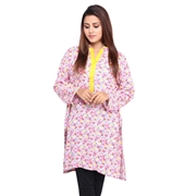Wokstore Garments Cotton Printed Kurti For Women Multi Color