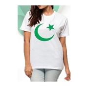 White Independence Day Women T-Shirt