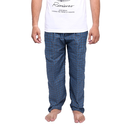 Buy Wokstore Garments Checkered Trouser For Men Blue  online