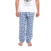 Wokstore Garments Checkered Trouser For Men Blue & White