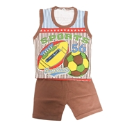 Wokstore Garments Casual Suit Sando For Kids Multi Color